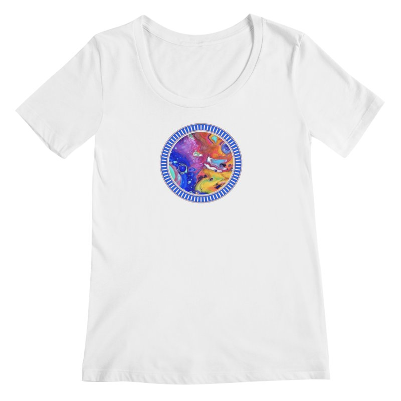 Wild and Crazy Acrylic Flow Women's Scoopneck by Creations of Joy's Artist Shop