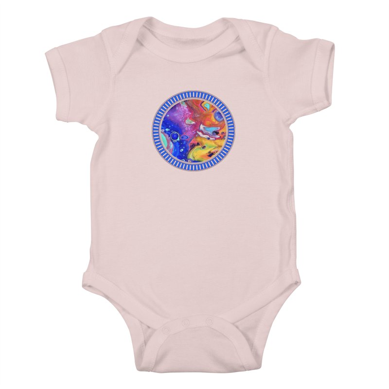 Wild and Crazy Acrylic Flow Kids Baby Bodysuit by Creations of Joy's Artist Shop