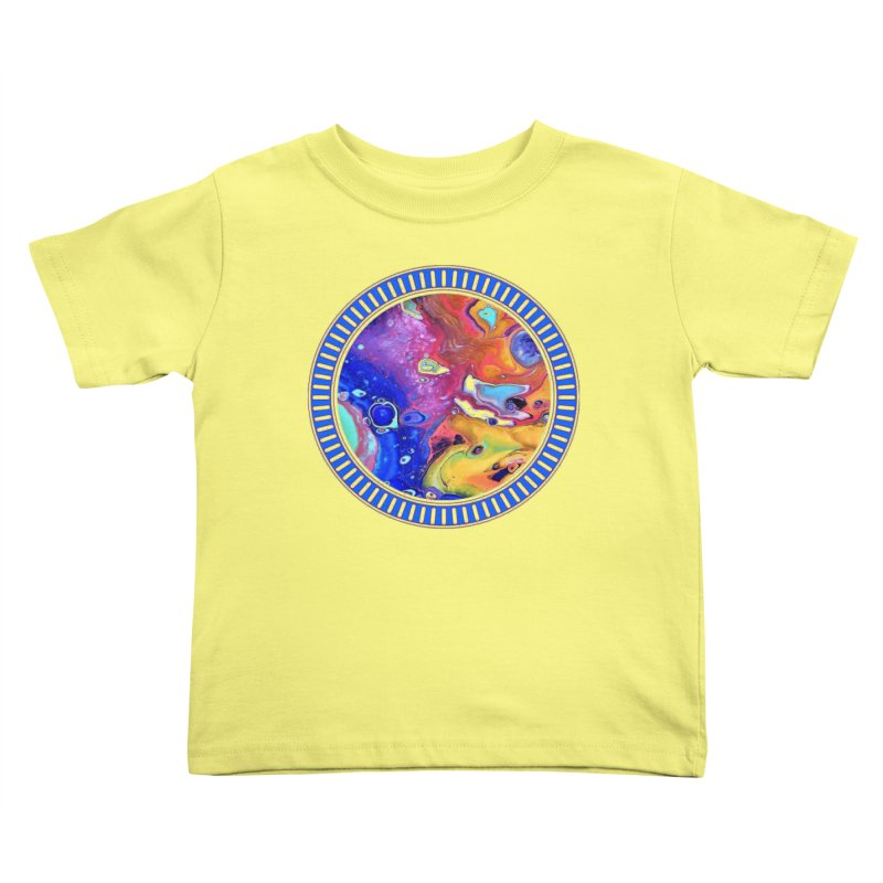 Wild and Crazy Acrylic Flow Kids Toddler T-Shirt by Creations of Joy's Artist Shop