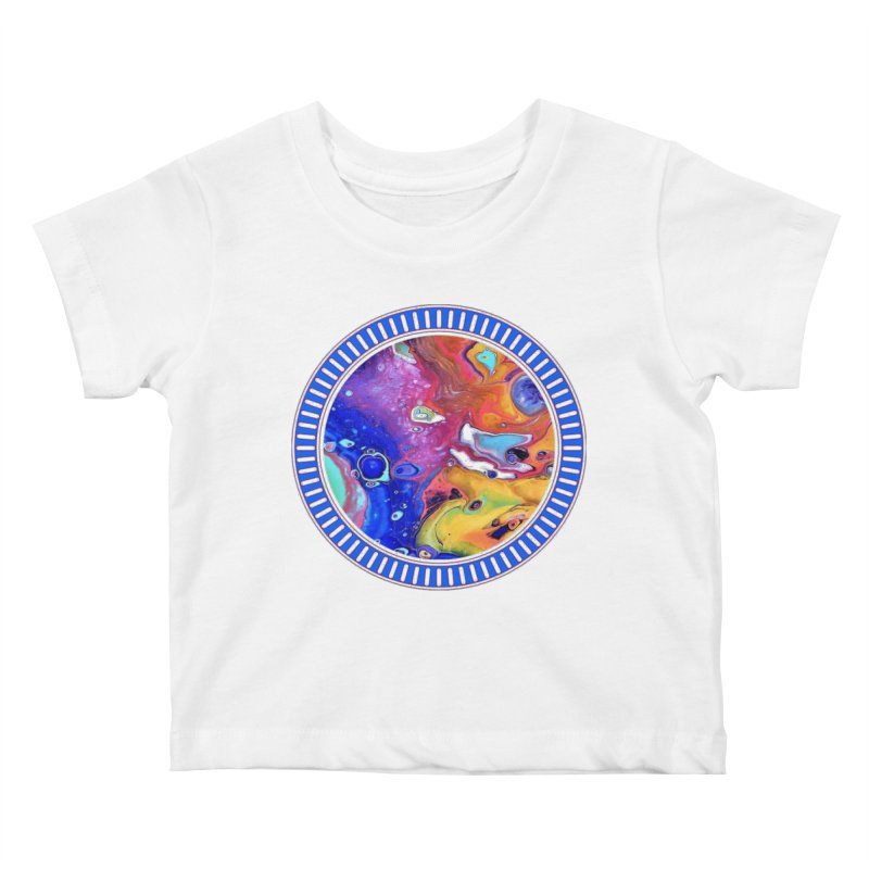 Wild and Crazy Acrylic Flow Kids Baby T-Shirt by Creations of Joy's Artist Shop