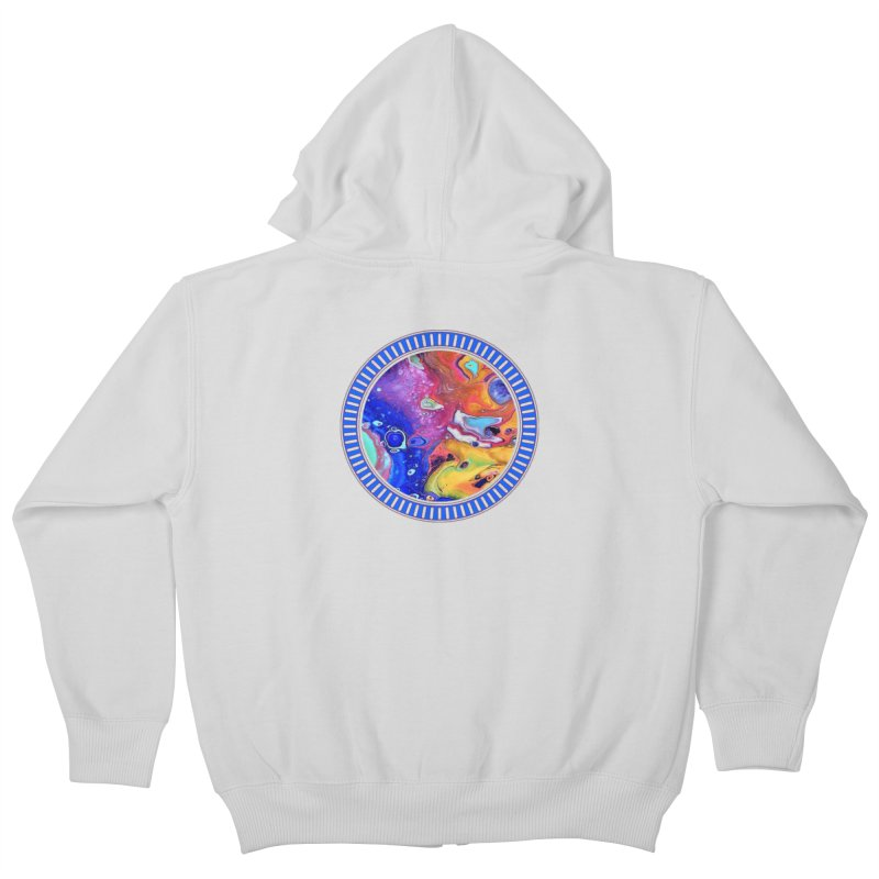 Wild and Crazy Acrylic Flow Kids Zip-Up Hoody by Creations of Joy's Artist Shop