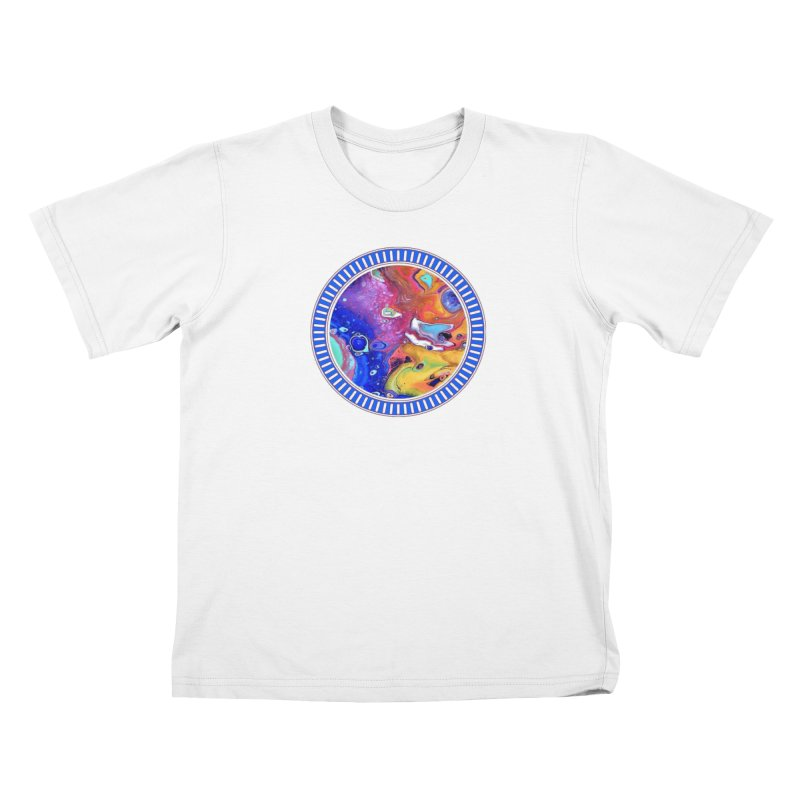 Wild and Crazy Acrylic Flow Kids T-Shirt by Creations of Joy's Artist Shop