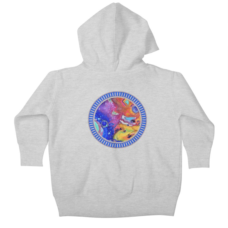 Wild and Crazy Acrylic Flow Kids Baby Zip-Up Hoody by Creations of Joy's Artist Shop
