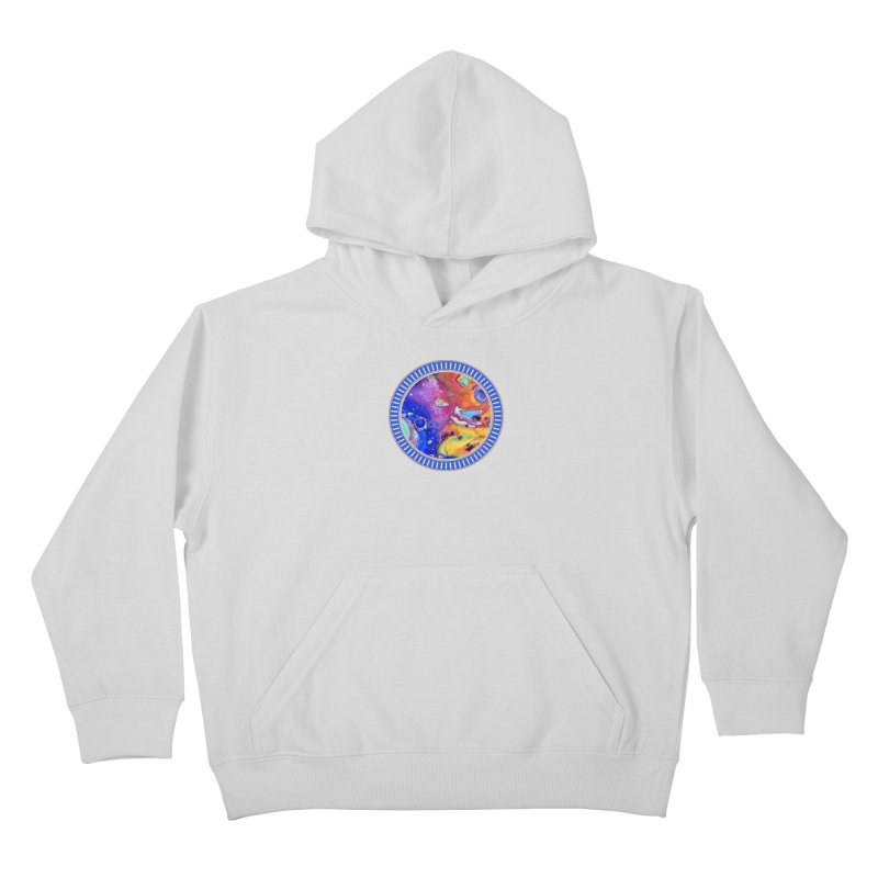 Wild and Crazy Acrylic Flow Kids Pullover Hoody by Creations of Joy's Artist Shop