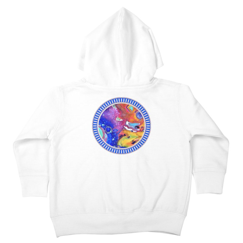 Wild and Crazy Acrylic Flow Kids Toddler Zip-Up Hoody by Creations of Joy's Artist Shop