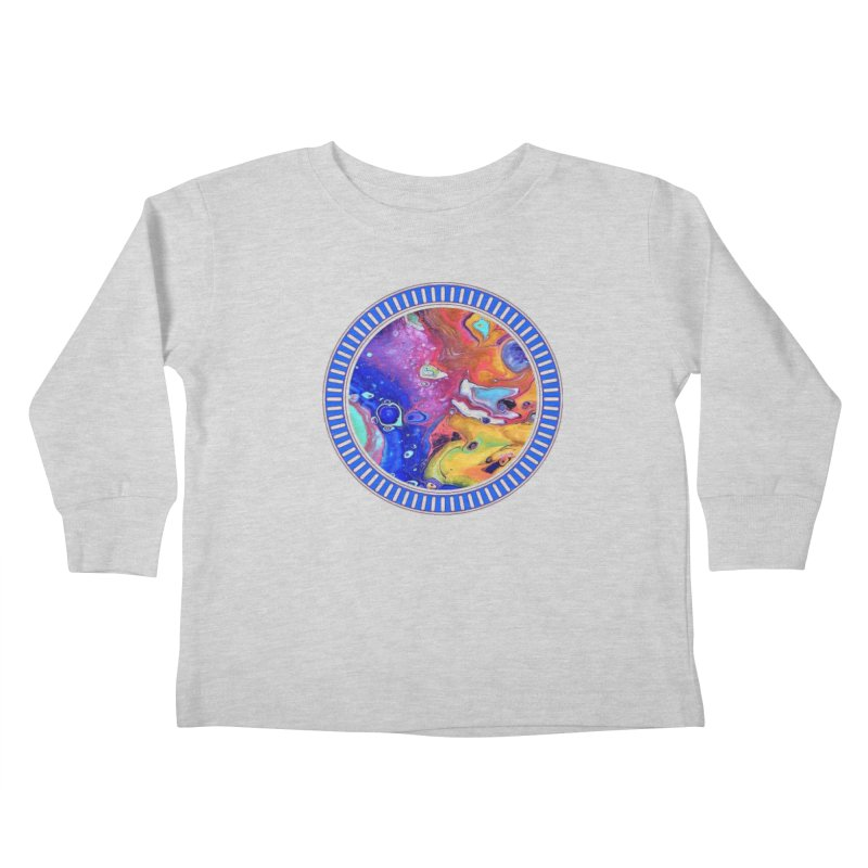 Wild and Crazy Acrylic Flow Kids Toddler Longsleeve T-Shirt by Creations of Joy's Artist Shop