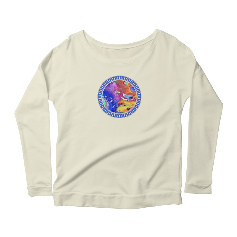 Wild and Crazy Acrylic Flow Women's Scoop Neck Longsleeve T-Shirt by Creations of Joy's Artist Shop