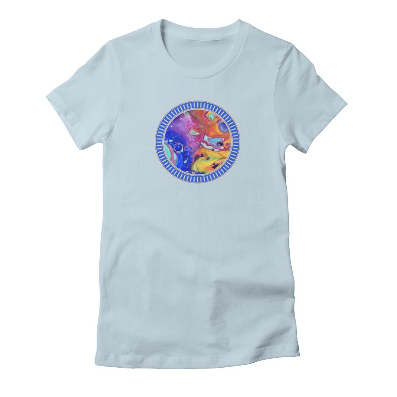 Wild and Crazy Acrylic Flow Women's T-Shirt by Creations of Joy's Artist Shop
