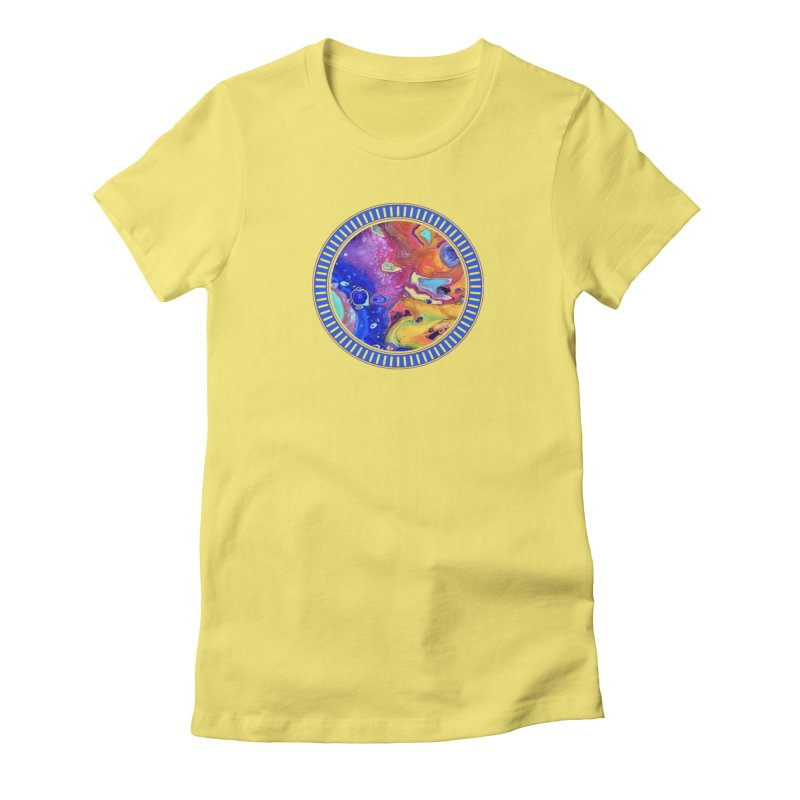 Wild and Crazy Acrylic Flow Women's Fitted T-Shirt by Creations of Joy's Artist Shop