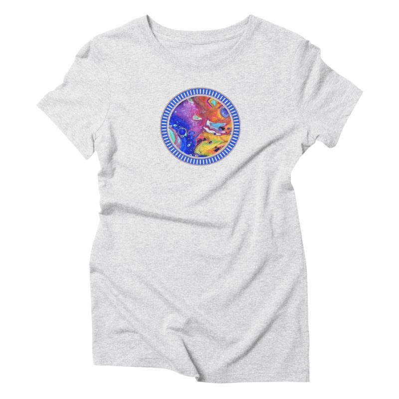 Wild and Crazy Acrylic Flow Women's Triblend T-Shirt by Creations of Joy's Artist Shop