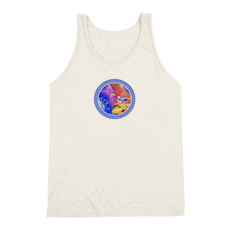 Wild and Crazy Acrylic Flow Men's Triblend Tank by Creations of Joy's Artist Shop