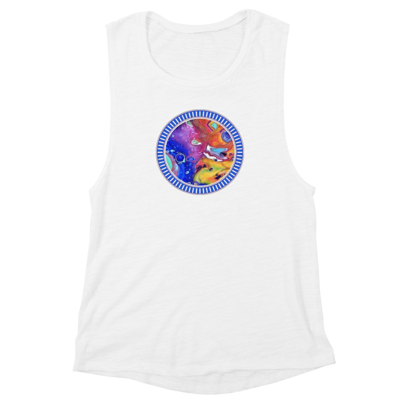 Wild and Crazy Acrylic Flow Women's Muscle Tank by Creations of Joy's Artist Shop