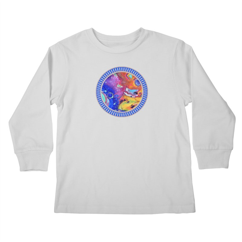 Wild and Crazy Acrylic Flow Kids Longsleeve T-Shirt by Creations of Joy's Artist Shop