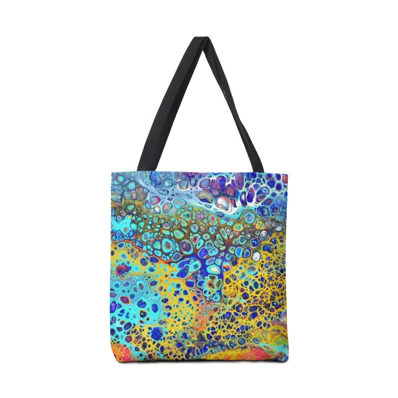 Turquoise Fizz Acrylic Flow in Tote Bag by Creations of Joy's Artist Shop