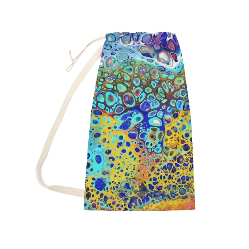 Turquoise Fizz Acrylic Flow Accessories Laundry Bag Bag by Creations of Joy's Artist Shop