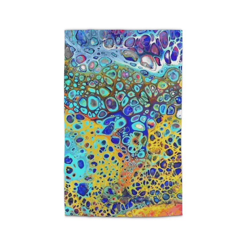 Turquoise Fizz Acrylic Flow Home Rug by Creations of Joy's Artist Shop