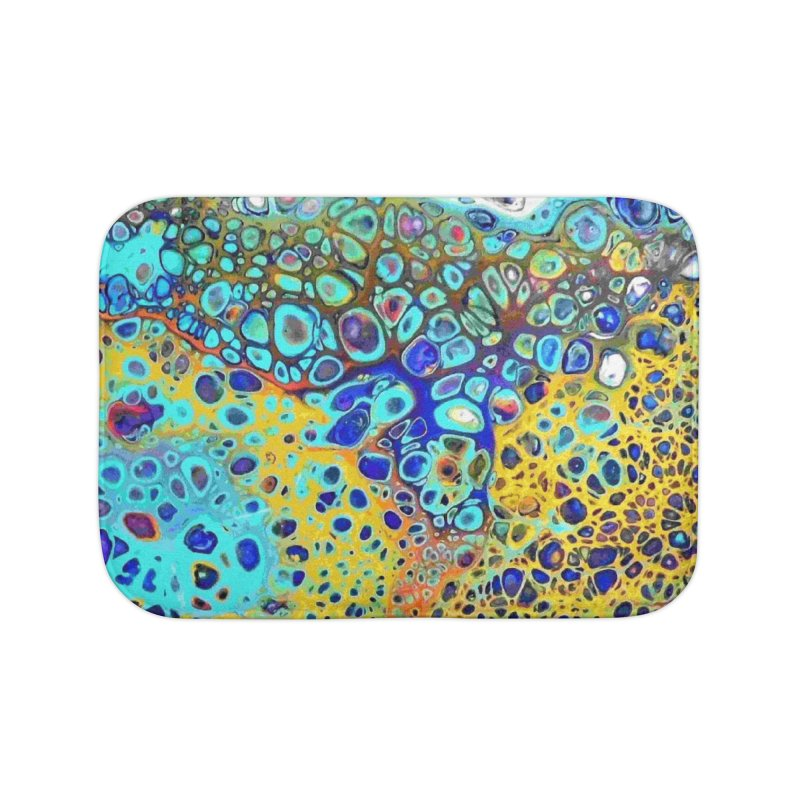 Turquoise Fizz Acrylic Flow Home Bath Mat by Creations of Joy's Artist Shop