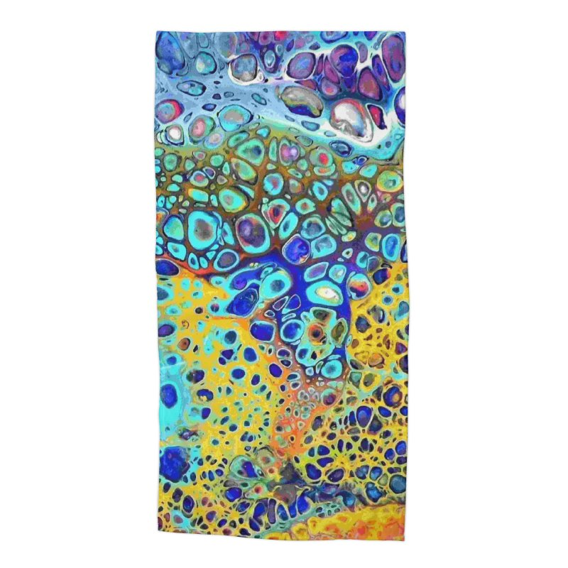 Turquoise Fizz Acrylic Flow Accessories Beach Towel by Creations of Joy's Artist Shop