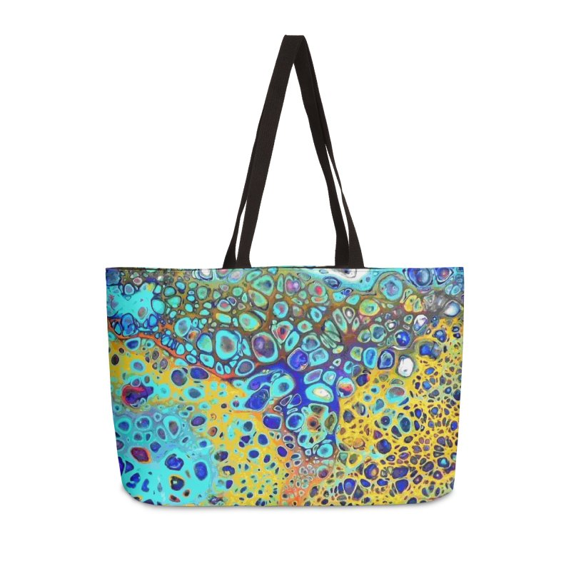 Turquoise Fizz Acrylic Flow Accessories Weekender Bag Bag by Creations of Joy's Artist Shop