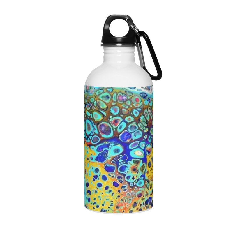 Turquoise Fizz Acrylic Flow Accessories Water Bottle by Creations of Joy's Artist Shop