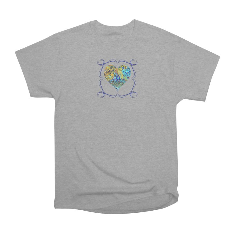 Turquoise Fizz Acrylic Flow Men's Heavyweight T-Shirt by Creations of Joy's Artist Shop