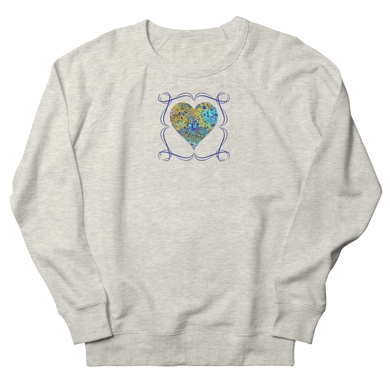 Turquoise Fizz Acrylic Flow Women's French Terry Sweatshirt by Creations of Joy's Artist Shop