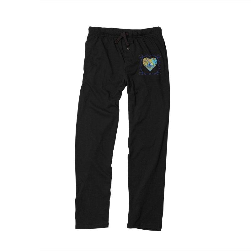 Turquoise Fizz Acrylic Flow Men's Lounge Pants by Creations of Joy's Artist Shop