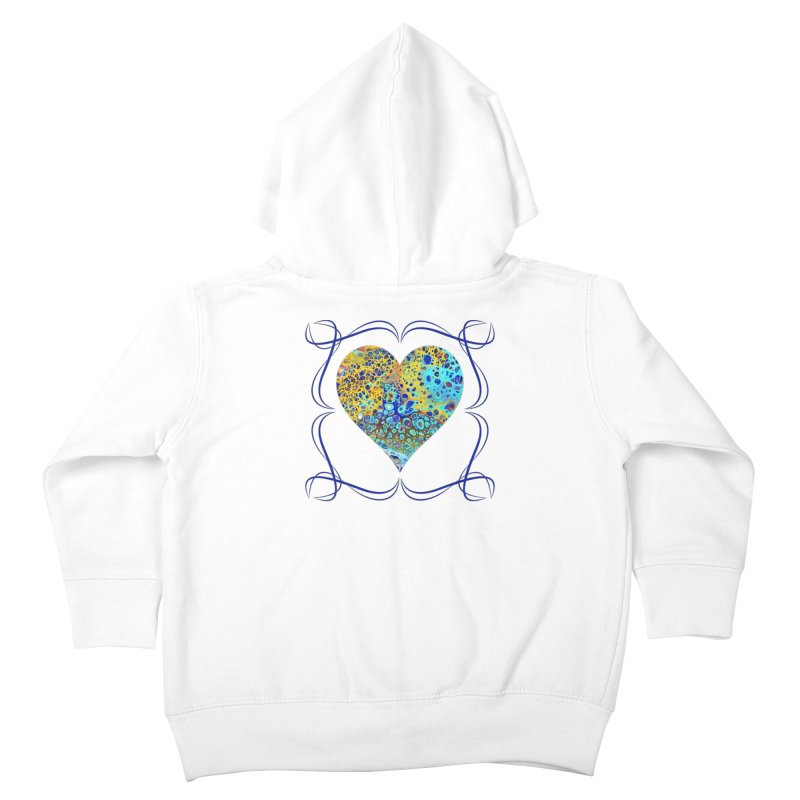 Turquoise Fizz Acrylic Flow Kids Toddler Zip-Up Hoody by Creations of Joy's Artist Shop