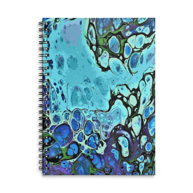 Sea Scape Acrylic Flow Accessories Lined Spiral Notebook by Creations of Joy's Artist Shop