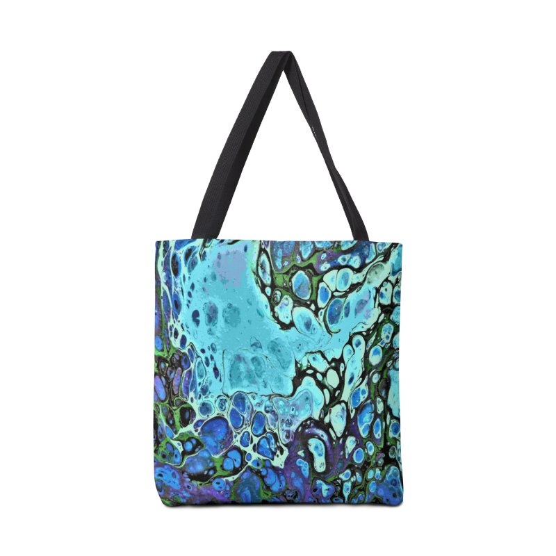 Sea Scape Acrylic Flow Accessories Tote Bag Bag by Creations of Joy's Artist Shop