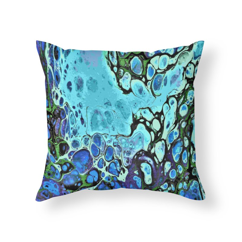 Sea Scape Acrylic Flow Home Throw Pillow by Creations of Joy's Artist Shop