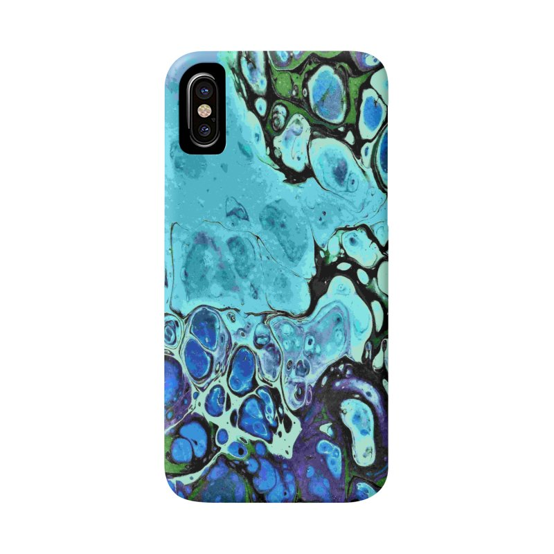 Sea Scape Acrylic Flow Accessories Phone Case by Creations of Joy's Artist Shop