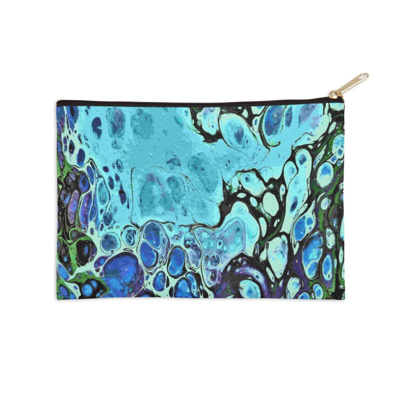 Sea Scape Acrylic Flow Accessories Zip Pouch by Creations of Joy's Artist Shop