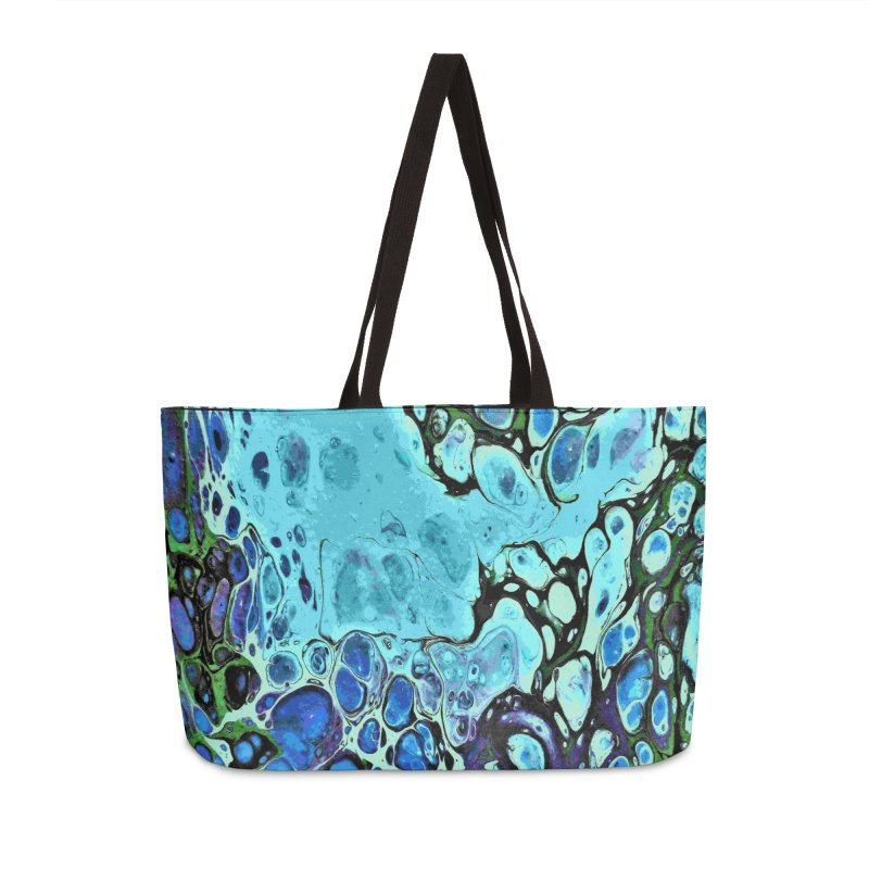 Sea Scape Acrylic Flow Accessories Weekender Bag Bag by Creations of Joy's Artist Shop