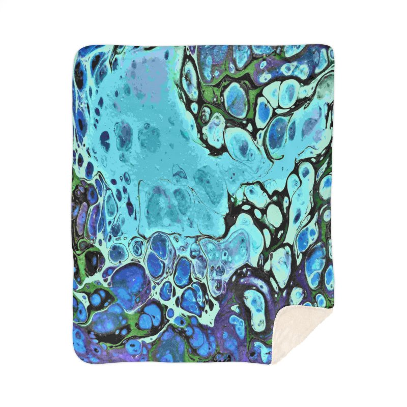 Sea Scape Acrylic Flow Home Blanket by Creations of Joy's Artist Shop
