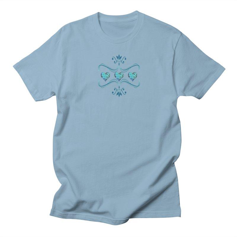 Sea Scape Acrylic Flow in Men's Regular T-Shirt Light Blue by Creations of Joy's Artist Shop