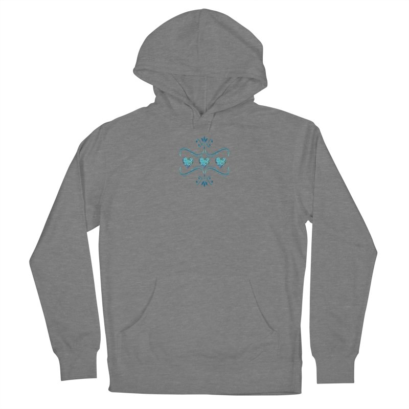 Sea Scape Acrylic Flow Men's French Terry Pullover Hoody by Creations of Joy's Artist Shop