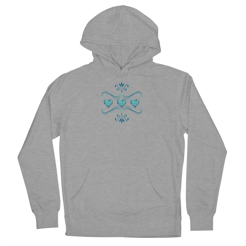 Sea Scape Acrylic Flow Women's French Terry Pullover Hoody by Creations of Joy's Artist Shop