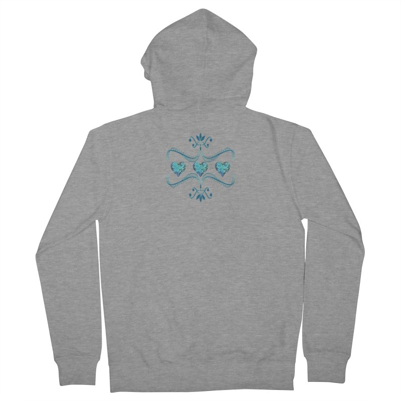 Sea Scape Acrylic Flow Women's French Terry Zip-Up Hoody by Creations of Joy's Artist Shop
