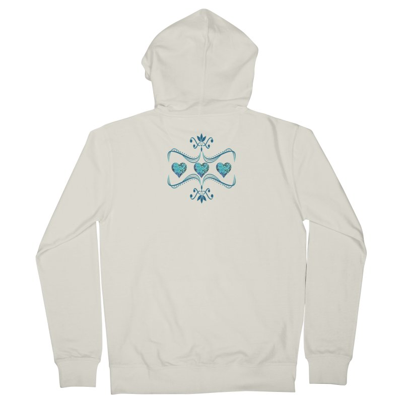 Sea Scape Acrylic Flow Men's Zip-Up Hoody by Creations of Joy's Artist Shop