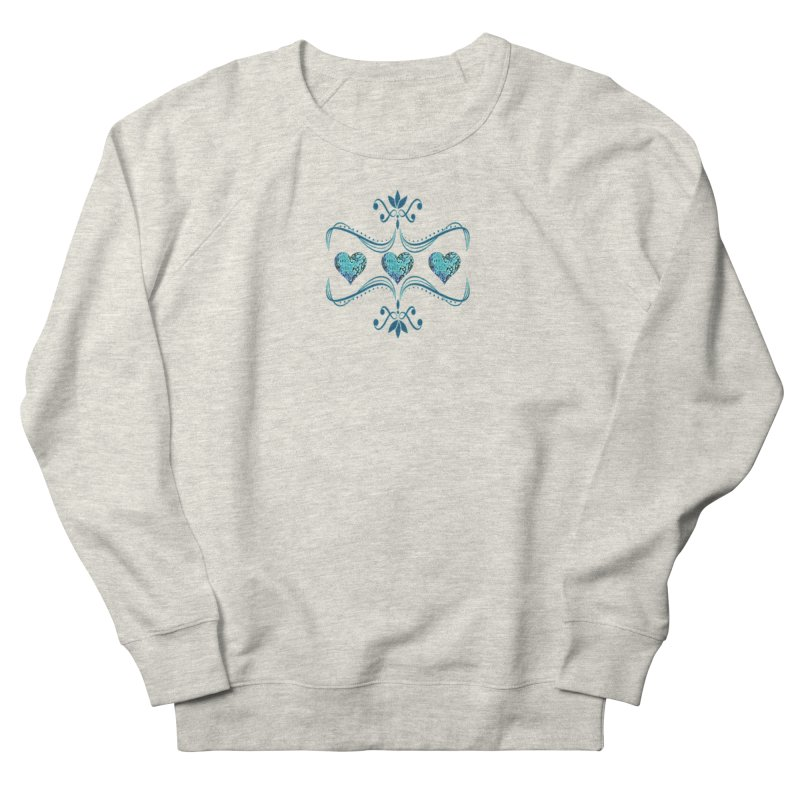 Sea Scape Acrylic Flow Women's French Terry Sweatshirt by Creations of Joy's Artist Shop