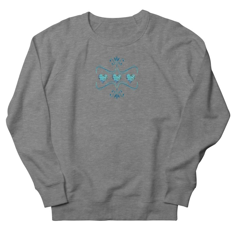 Sea Scape Acrylic Flow Men's French Terry Sweatshirt by Creations of Joy's Artist Shop