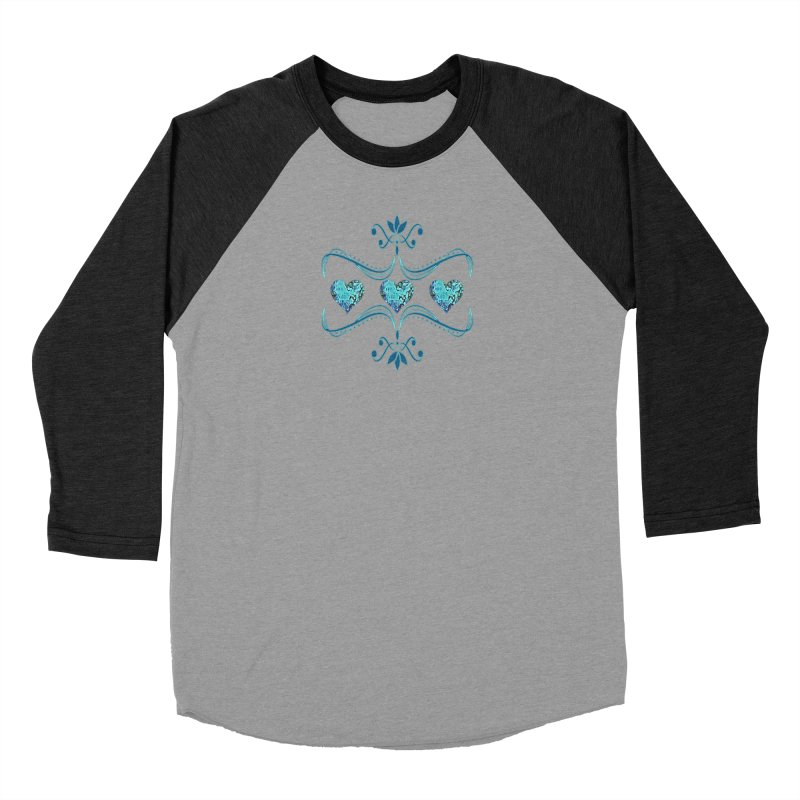 Sea Scape Acrylic Flow Men's Baseball Triblend T-Shirt by Creations of Joy's Artist Shop