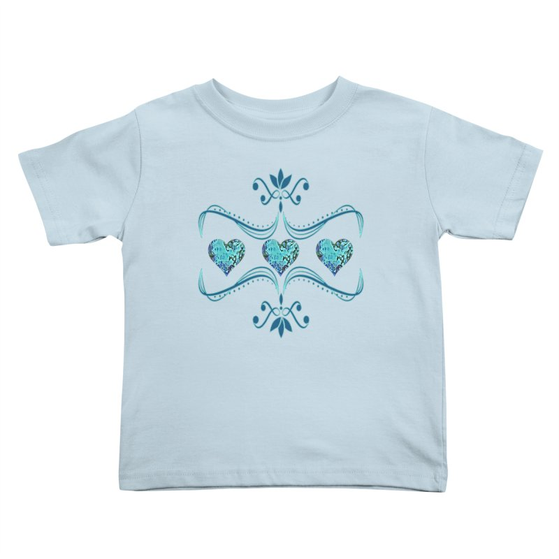 Sea Scape Acrylic Flow Kids Toddler T-Shirt by Creations of Joy's Artist Shop