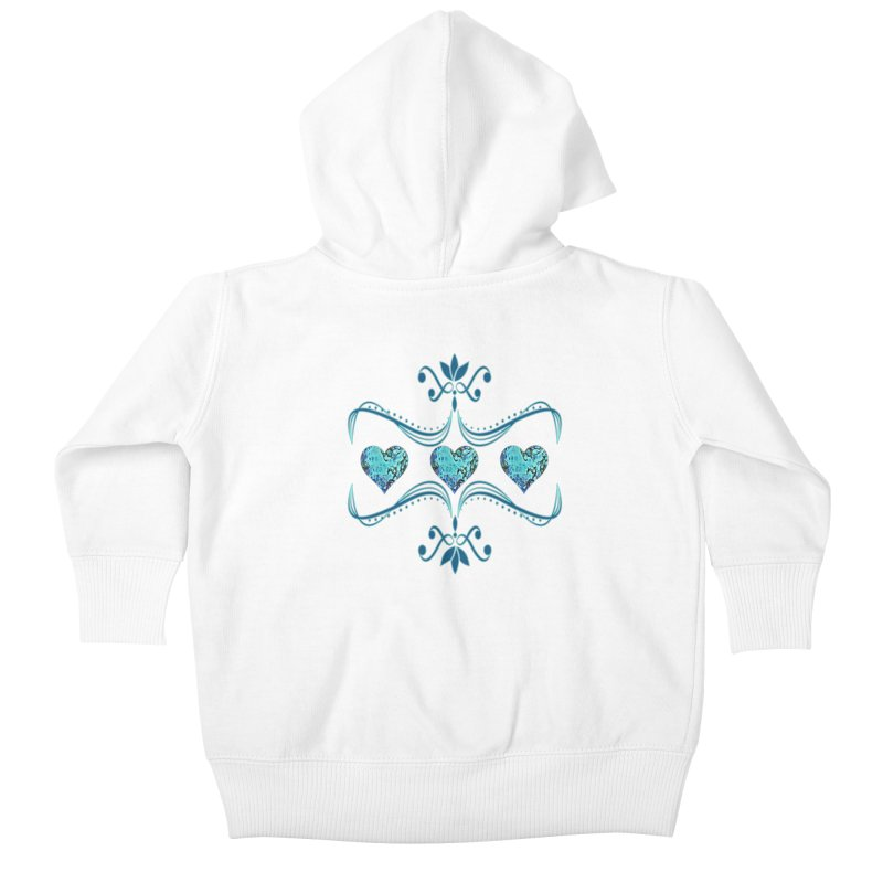 Sea Scape Acrylic Flow Kids Baby Zip-Up Hoody by Creations of Joy's Artist Shop