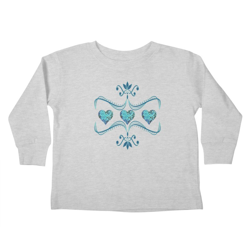 Sea Scape Acrylic Flow Kids Toddler Longsleeve T-Shirt by Creations of Joy's Artist Shop