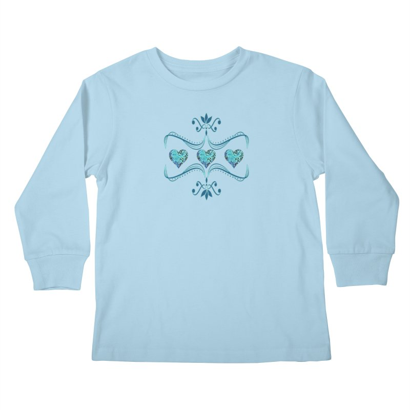 Sea Scape Acrylic Flow Kids Longsleeve T-Shirt by Creations of Joy's Artist Shop