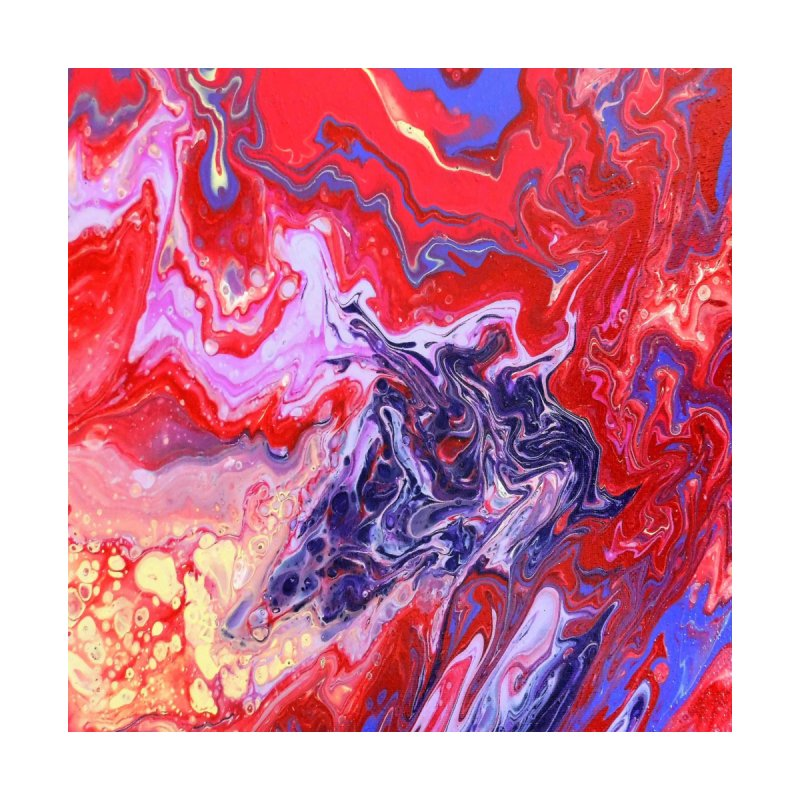 Red and Purple Acrylic Flow by Creations of Joy's Artist Shop