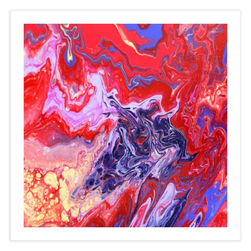 Red and Purple Acrylic Flow Home Fine Art Print by Creations of Joy's Artist Shop