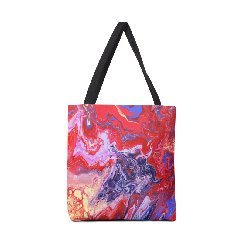 Red and Purple Acrylic Flow Accessories Bag by Creations of Joy's Artist Shop